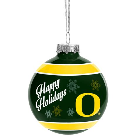 oregon ducks ncaa holiday christmas ornament glass ball