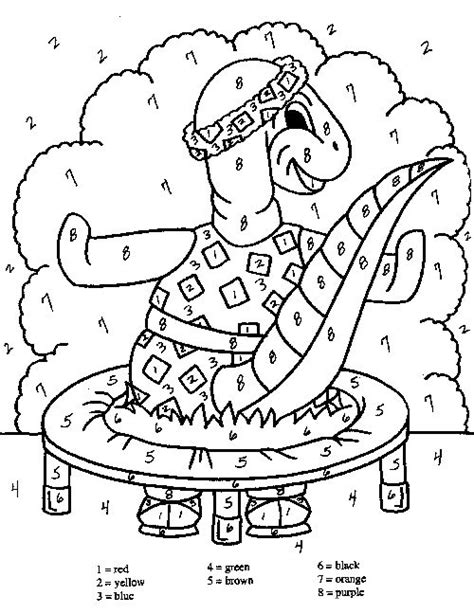 coloring pages with numbers hard hard color by number pages dinosaur color by number