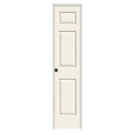 Home Depot Prehung Interior Door Jeld Wen 18 In X 80 In Colonist Vanilla Painted Right Textured Molded Composite Mdf