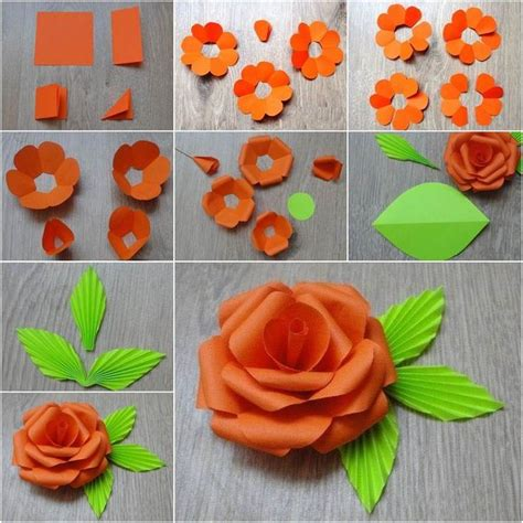 How To Make Paper Roses Step By Step With Pictures - how to diy easy paper flower beautiful 8230 and flower