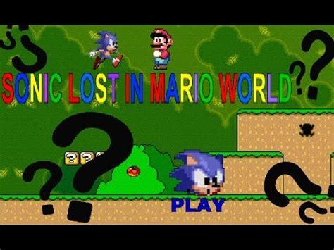 sonic world fan game sonic lost in mario world fan game youtube