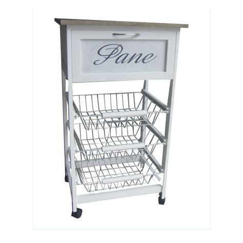 carrello cucina bianco carrello da cucina bianco con portapane