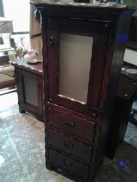 mueble rustico en madera alacena  cocina  comedor
