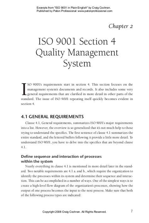 iso 9001 sections 10 iso 9001 2008 explanation
