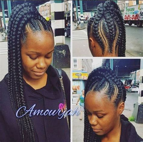 african cownroll pony tail stunningly cute ghana braids styles for 2018 hair style