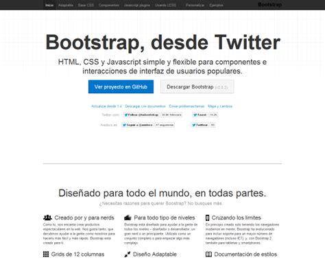 bootstrap tutorial github tutorial framework bootstrap twitter en espa 241 ol