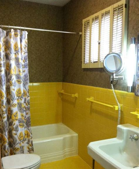 yellow tile bathroom ideas vintage yellow tile bathroom www pixshark images