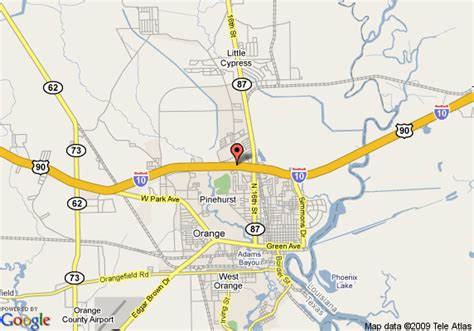 map of orange texas map of best value inn orange orange