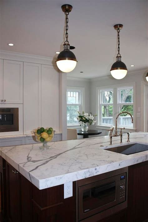 thomas obrien hicks pendants transitional kitchen sarah gallop design