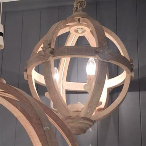 Large Wooden Orb Chandelier Lighting Cowshed Interiors