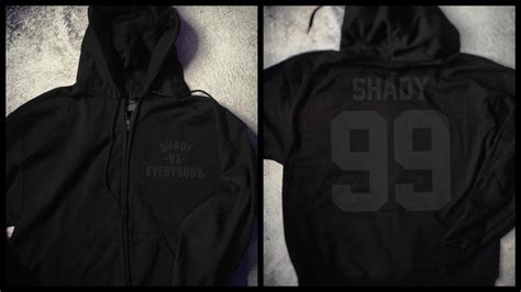 Sweater Shady Made Me Eminem Anime shady vs everybody zip up chion hoodie black