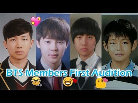 V Audition Bts by Bts Members First Audition Pre Debut Youtube