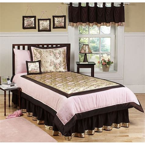 sweet jojo designs pink brown 3 piece full queen size