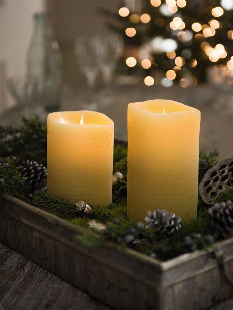 beeswax flame effect led candles gardenerscom