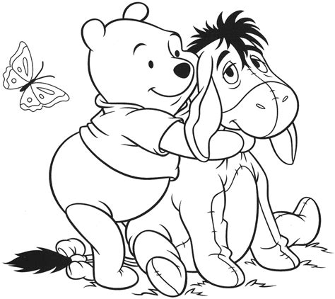free coloring activity featuring popular character winnie