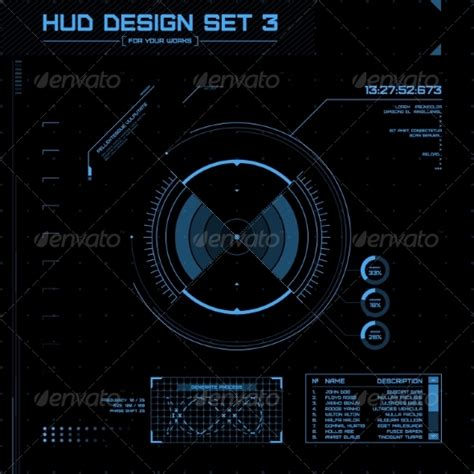 Search Hud Numbers Hud And Gui Set Futuristic User Interface By Kanva777 Graphicriver