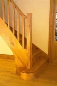Bullnose Stairs by Closed String Elm Stairs With A Single Bullnose Step