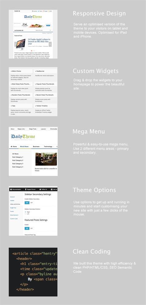 theme junkie daily daily wordpress magazine theme mojo themes