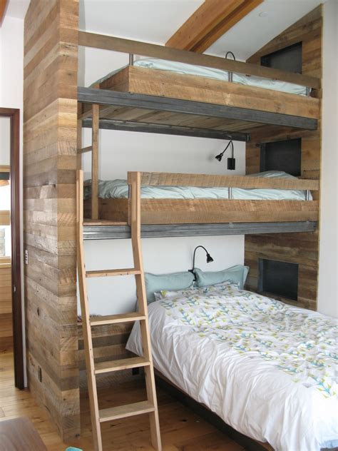 bunk and loft beds saving space and staying stylish with triple bunk beds