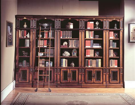 vintage library bookcase with ladder doherty house