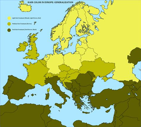 what does the color black on a map illustrate light hair and light maps of europe fair hair and