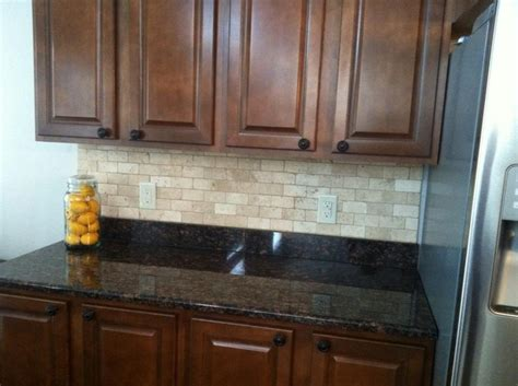 tile backsplash on dark granite house ideas pinterest