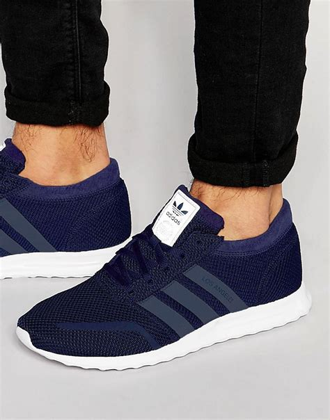 adidas men suitable men adidas originals los angeles sneakers blue