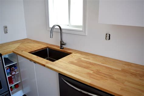 Ikea Hack Kitchen Island by Adventures In Staining Butcher Block What Worked What