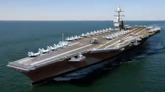 newest aircraft carrier uss gerald r ford launched