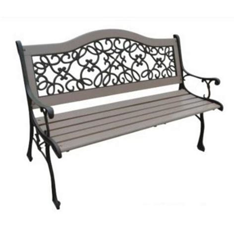 homedepot bench parkland heritage sand dollar park bench sl2009 sd the home depot