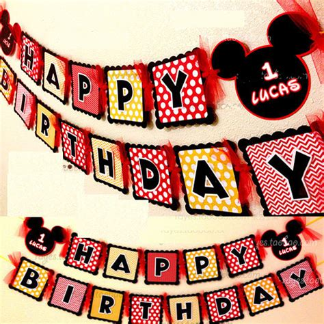 Bunting Flag Mickey Mouse make your own mickey mouse happy birthday paper flag bunting banner garland decoration w