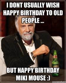 Old Man Birthday Meme - site unavailable