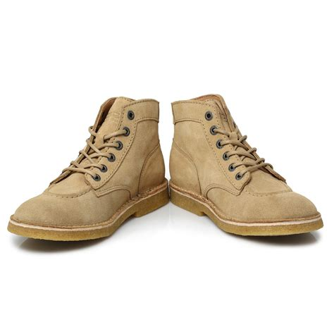 Kickers Legend Premium kickers beige brown kick legend suede mens ankle high