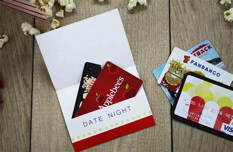 Printable Movie Gift Cards - free printable give date night for a wedding gift gcg