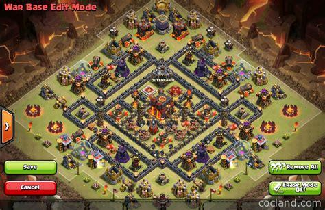 town hall 10 war base 275 walls اقوى تصاميم كلاش اوف كلانس الجديدة top clash of clans