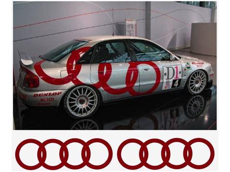 Aufkleber Audi Ringe by Aufkleber Passend F 252 R Audi Ringe Seitenaufkleber Aufkleber