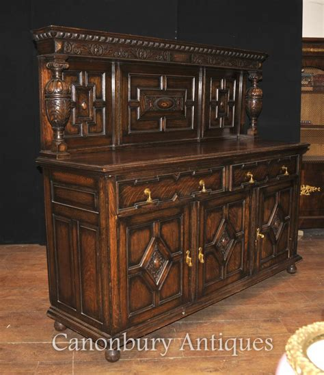 buffet kitchen furniture antique oak jacobean sideboard server buffet kitchen furniture