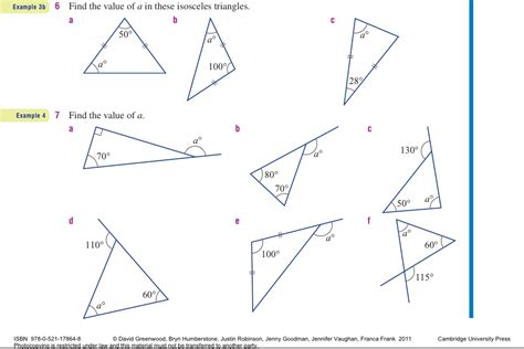 finding missing angles of a triangle worksheet year 9 interior angles practice work mr patel s maths