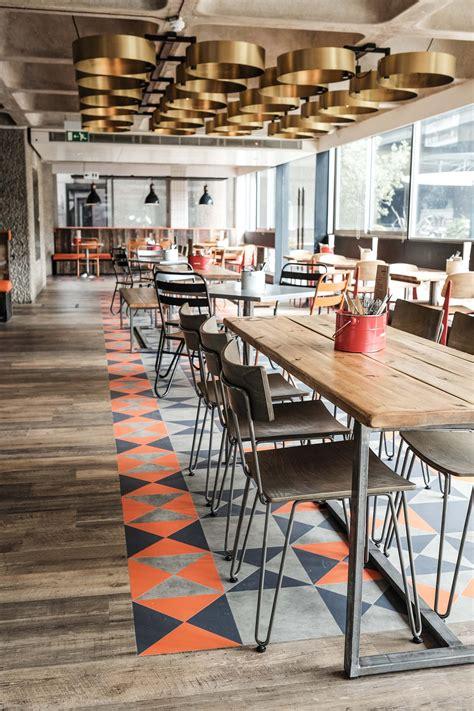 design own cafe bonfire restaurant the barbican centre london designed