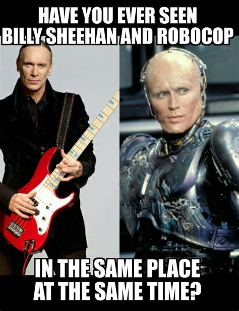 Bass Player Meme - billy sheehan plays better than any robot www