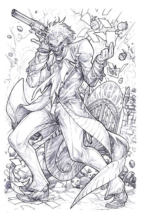 coloring pages for adults batman gotham arkham madness by pant on deviantart