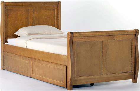 sleigh bed with storage school house pecan twin sleigh bed with storage 6050ns