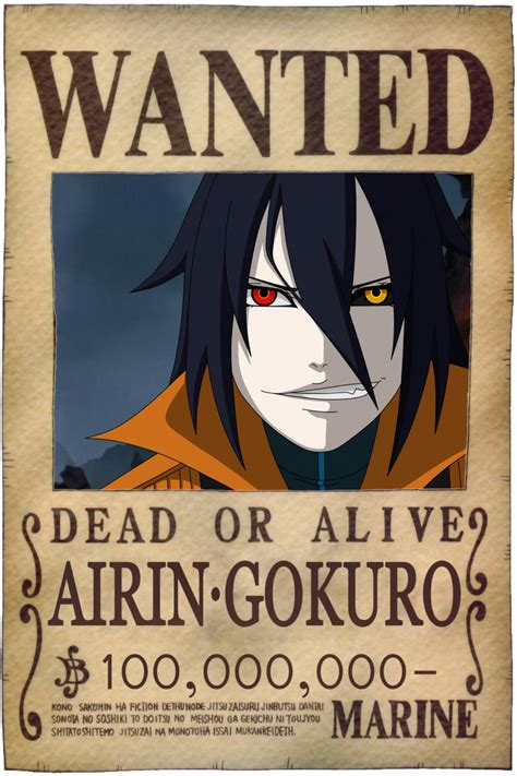 membuat poster wanted one piece one piece oc airin gokuro wanted posters by airin gokuro