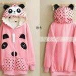 Jacket Polkadot Baby Tery Lmfc jaket panda cewek pink koleksi jacket remaja keren