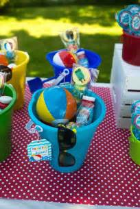 Pool Birthday Favor Ideas by Splish Splash Pool Bash
