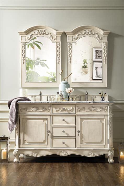 60 inch sink bathroom vanity vintage vanilla finish