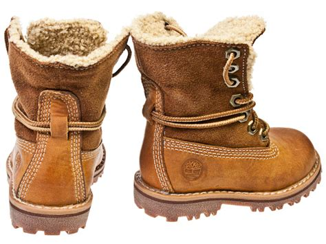 boots for toddler timberland authentics shearling toddler brown leather