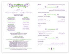 exle of wedding programs wedding program sles images