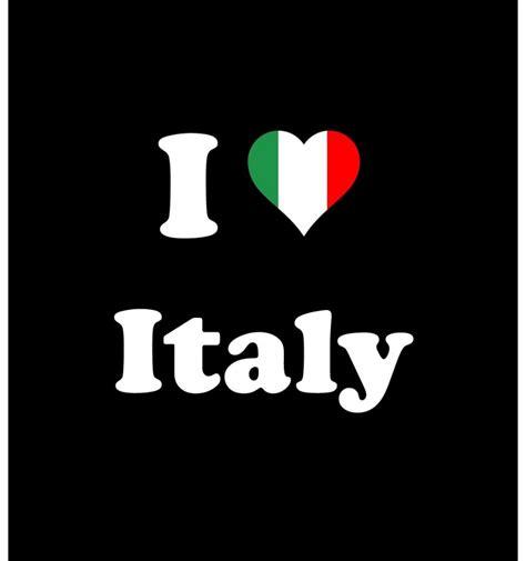 T shirt I love Italy   Impression Quimper