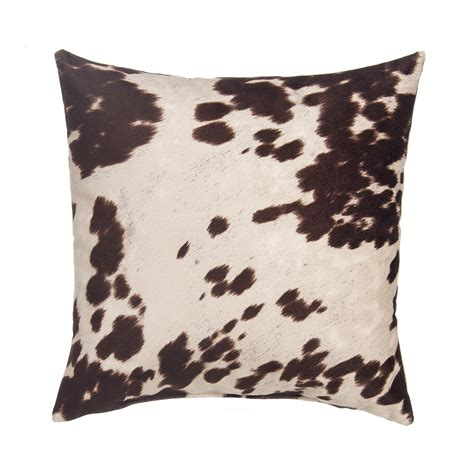 grouchy goose pillow cover cow brown faux